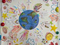 Коллективная работа старшей группы, 5-6 лет, Пусть будет мир на всей планете - и счастливы пусть будут дети!, МДОБУ 78